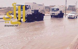 بلدية محافظة بيش تنفذ خطة الطوارئ لمواجهة الحالة المطرية التي شهدتها المنطقة مؤخراً