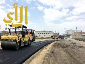 بلدية النماص تستكمل مشروع طريق الدوائر الحكومية