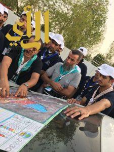 جوالة جامعة الباحة يقدمون خدماتهم لحجاج بيت الله الحرام