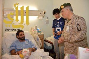 معايدة مصابي الحد الجنوبي والمرضى المنومين بمستشفى القوات المسلحة بالجنوب