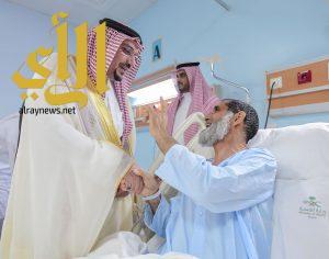 أمير القصيم يزور مفتش وزارة التجارة والاستثمار بالمنطقة ويطمئن على صحته