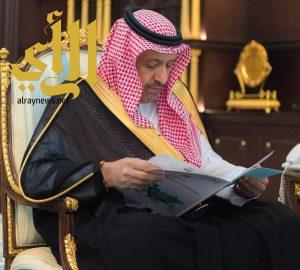 أمير الباحة يتسلم تقريرين منفصلين عن أعمال لجنة الامارة لمتابعة المشاريع