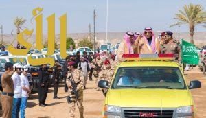 """أمير الباحة يحضر التمرين الفرضي """"حالة مطرية وسيول جارفة"""" لمدني الباحة"""