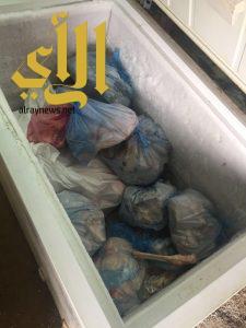 بلدية النماص تضبط 63 كجم من اللحوم مجهولة المصدر بسكن العمالة