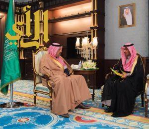 أمير الباحة يستقبل مدير عام فرع الهيئة العامة للزكاة والدخل بالمنطقة المعين حديثاً