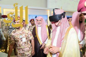 جناح قوات الامن الخاصة بمعرض ًآمن بالدرعية يجذب زوار المعرض