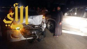 إصابة 18 شخصاً بحادث مروري بمركز البرك