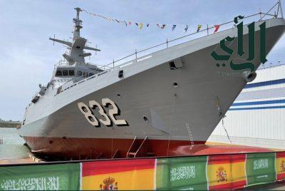 #القوات_البحرية_الملكية_السعودية تعّوم سفينة جلالة #الملك_حائل بـ #مملكة_إسبانيا