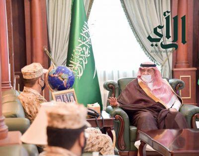 أمير منطقة جازان يستقبل قائد قوة الحرس الوطني المعين بالمنطقة