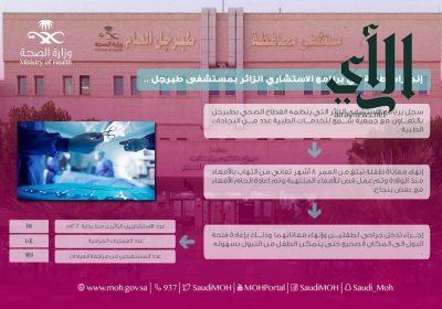 مستشفى #طبرجل العام يُنهي معاناة طفلة من التهاب في الأمعاء