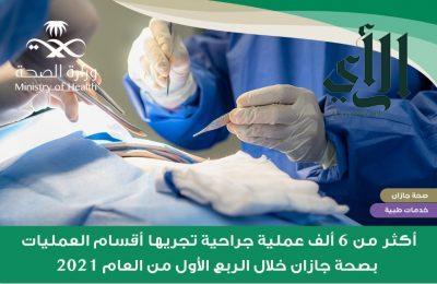 إجراء أكثر من 6 آلاف عملية جراحية في أقسام العمليات بمستشفيات #صحة_جازان