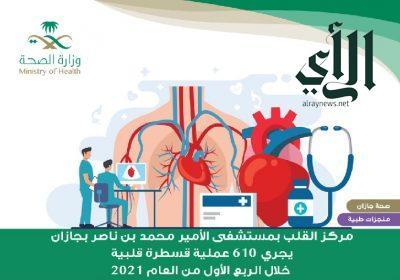 إجراء 610 عمليات قسطرة قلبية في مركز القلب بمستشفى #الأمير_محمد_بن_ناصر بـ #جازان