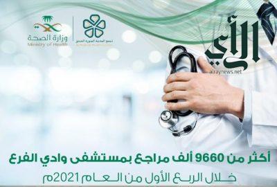 أكثر من 9661 مستفيد من خدمات مستشفى #وادي_الفرع