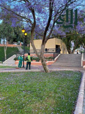 #أمانة_عسير تنهي أعمالها في 78 حديقة ومتنزه استعدادا لاستقبال الزوار خلال #عيد_الفطر