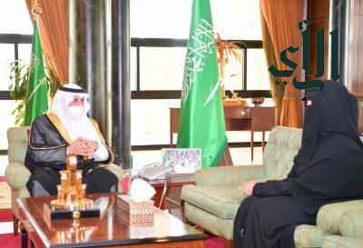 #أمير_تبوك يستقبل عضو مجلس الشورى الدكتورة أميرة البلوي