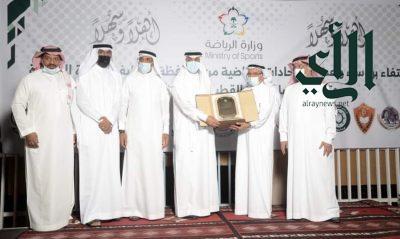 نادي الجزيرة الرياضي بدارين يكرم رئيس اتحاد اليد و رئيس اتحاد القوي