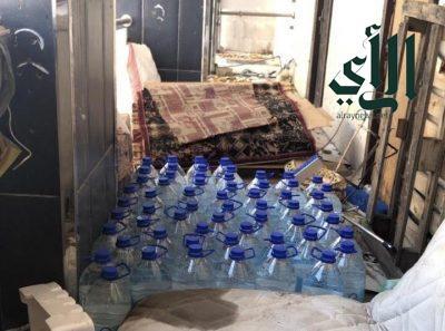 #أمانة_العاصمة_المقدسة تضبط 4550 كمامة غير آمنة وتتلف 60 عبوة مياه زمزم مجهولة المصدر