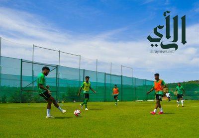 #الأخضر الأولمبي يعاود تدريباته بعد التعادل مع #المكسيك