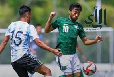#الأخضر_الأولمبي يخسر ودية #الأرجنتين بهدفين