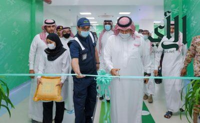 أمير عسير  يدشن المرحلة الأولى من المستشفى الميداني في #أبها بسعة 100 سرير
