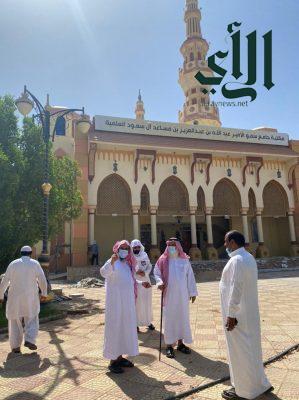مدير الشؤون الإسلامية بالشمالية يزور جوامع ب #عرعر