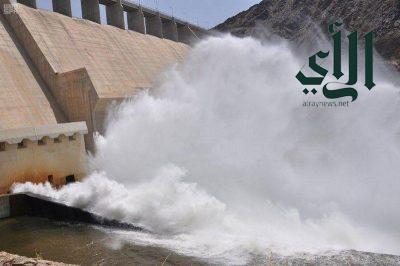 وزارة البيئة : تستعد غداً لفتح بوابات سد وادي بيش لمدة شهر