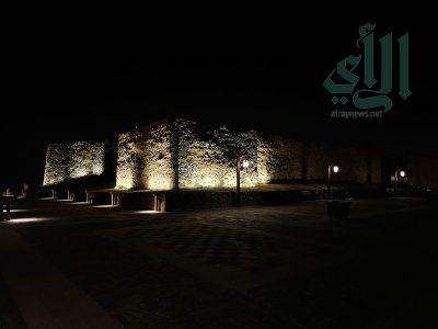 """""""الرأي"""" توثق قلعة شمسان التاريخية في أبها"""