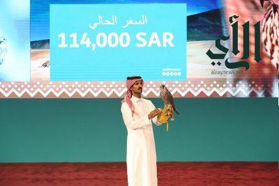 بيع 3 صقور بـ 261 ألف ريال في الليلة الـ 13 لمزاد نادي الصقور السعودي الثاني