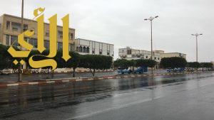 أمطار على محافظة الحرجه