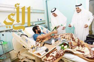 مدير عام تعليم الرياض يزور مصابي الحد الجنوبي بمستشفى الأمير سلطان بالرياض