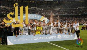 ريال مدريد بطل كأس السوبر الإسباني على حساب برشلونة