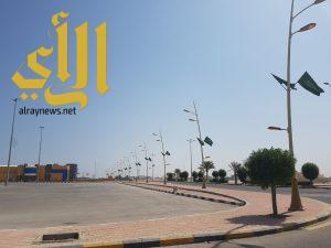 بلدية الخفجي تجهز موقع حفل اليوم الوطني
