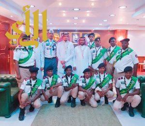 مدير تعليم نجران يلتقي الفرقة الكشفية المشاركة في الحج