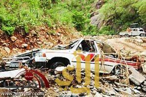 رجال المع : انهيارات في الطرق والبنى التحتية جراء الامطار ( صور )