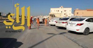 بلدية الخفجي تستأنف حملة النظافة برفع أكثر من 3000 متر مكعب