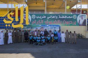 """فريق """"دراجي الأسطول الشرقي""""  في ضيافة محافظة طريب"""