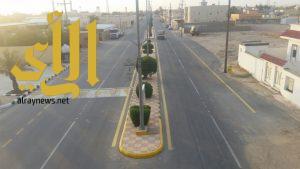 بلدية السعيرة تنتهي من سفلتة طريق الملك عبدالله مع تقاطع طريق الخليفة أبو بكر الصديق