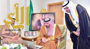 أمير منطقة نجران يستقبل محافظ شروره