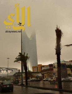 أمطار الخير و البركة تهطل على منطقة الرياض