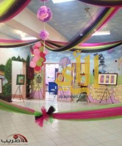 افتتاح المعرض الفني بمدرسة مجعل والميثاء الشمالي للبنات بتندحة