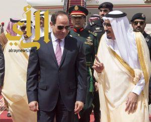 خادم الحرمين الشريفين يستقبل الرئيس المصري عبدالفتاح السيسي