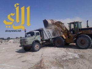 بلدية جوف بني هاجر تطلق حملة لإزالة الأنقاض ومخلفات البناء والهدم