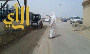 بلدية الجبيل: إزالة 4000 متر مكعب من النفايات بسوق الماشية والصناعية