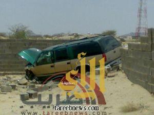 إصابة بعض المعلمات بعد حادث تصادم في طريب
