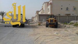بلدية بقيق: استمرار حملة إزالة الأنقاض و مخلفات البناء والهدم