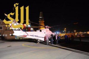 طائرة الإخلاء تهبط بالجنادرية لنقل مصاب إثر حادث مروري
