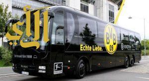 انفجار قرب حافلة نادي بروسيا دورتموند وإصابة الإسباني بارترا بجروح