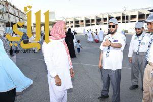 600 من أبطال كشافة تعليم مكة ينطلقون بأعمالهم التطوعية في الحرم المكي