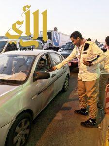 حملة توعوية مرورية للكشافة على طريق الرياض – الخرج