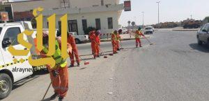 حملة بلدية الخفجي تنطلق برفع أكثر من 12000م3 أنقاض ونفايات